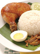 Nasi Lemak with Signature Fried Chicken