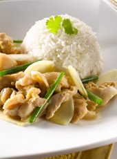 Ginger Spring Onion Chicken Rice