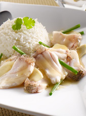 Ginger Spring Onion Fish Rice
